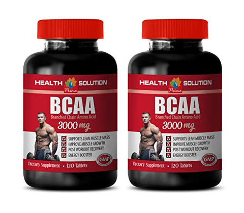 pre Workout bcaa Supplement - BCAA 3000 MG - bcaa Workout Recovery - 2 Bottles 240 Tablets