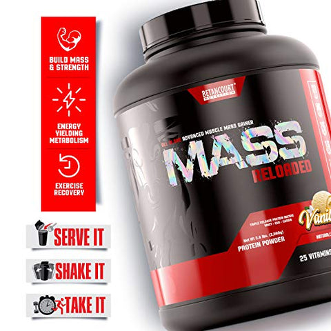 Betancourt Nutrition Mass Reloaded Powder, 5lb, Vanilla
