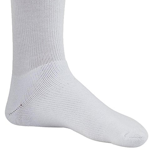 Ames Walker AW Style 130L Coolmax 15 20mmHg Compression Crew Socks White XLarge