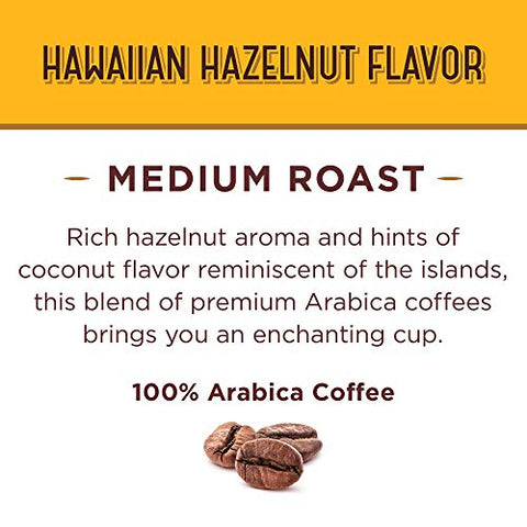 Don Francisco's Hawaiian Hazelnut Flavored Ground Coffee, 100% Arabica (3 x 12 Ounce Cans)
