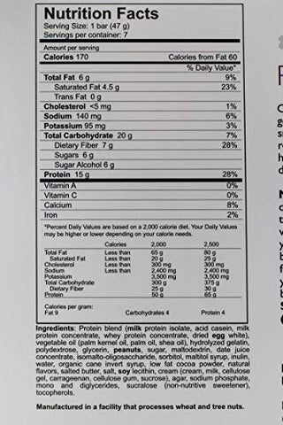 New York Bariatric Group Caramel Nut Protein Bar - Low Calorie - Low Carb - 15g Protein - Gluten Free