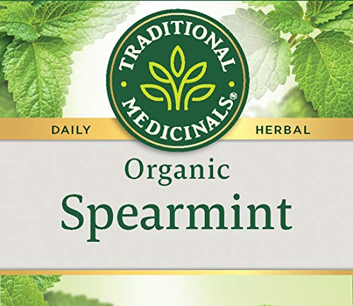 Traditional Medicinals Organic Spearmint Tea, 16 Tea Bags (Pack Of 6)