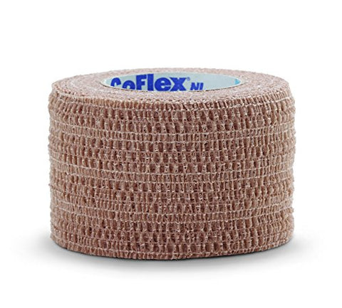 Medline Co-Flex Cohesive Flexible Elastic Bandage, Self-Adherent Compression Wrap, Latex Free, 1.5