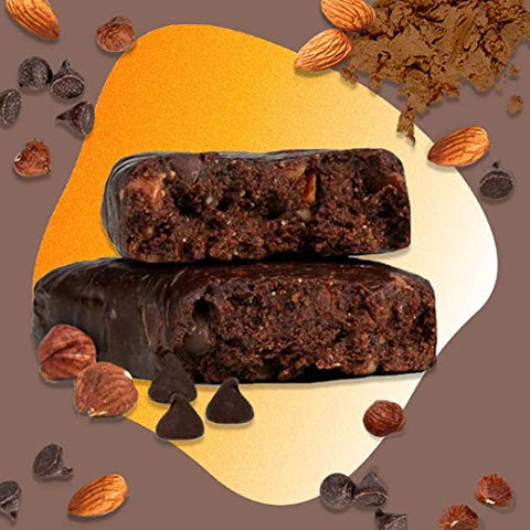 Zing Plant Based Protein Bar | Double Nut Brownie, 12 Count | Moist and Fudgy with Real Dark Chocolate | 10g Protein and 9g Fiber | Vegan, Gluten Free, Non GMO | Created by Professional Nutritionists