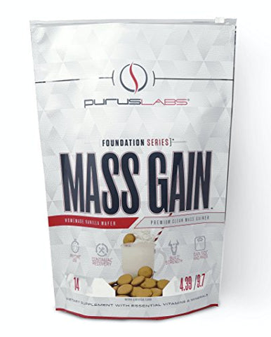 Purus Labs Mass Gain | Premium Clean Mass Weight Gainer (Homemade Vanilla Wafer, 10lbs)