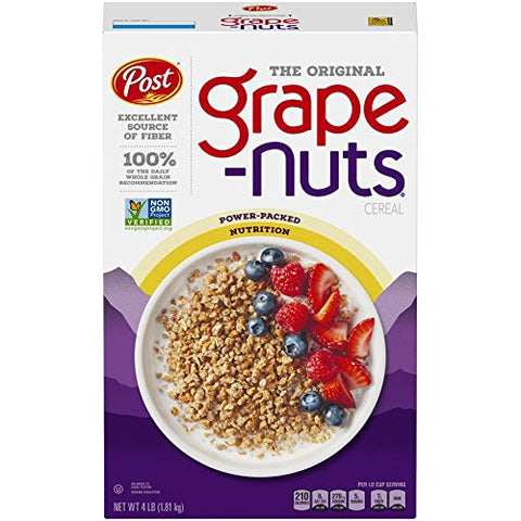 Post Grape Nuts The Original Non Gmo Cereal, 64 oz box, 8 Count