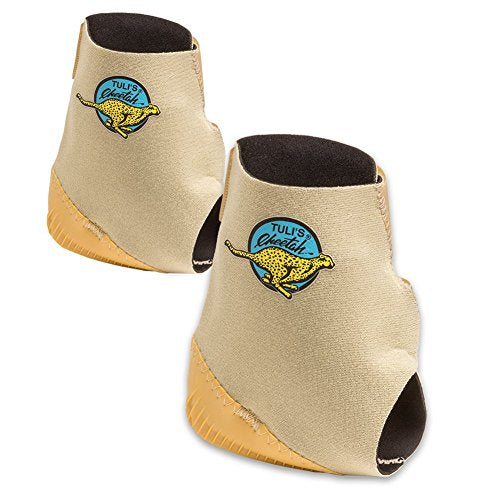 Tuli's Cheetah Heel Cup for Barefoot Activities (Pair) - Includes 2 Cheetahs - Adult (One Size Fits All)