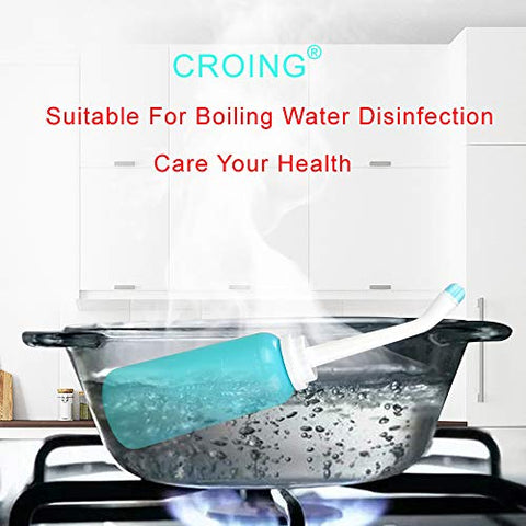 CROING-2 Packs - 500ml Portable Bidet Bottle with Bag for Travel - Mom Upside Down Peri Bottle for Postpartum Care - Mom Washer for Perineal Recovery and Cleansing After Birth