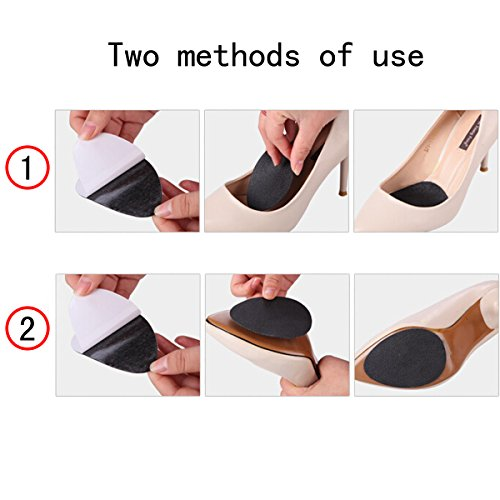 Zcargel 10pairs Slip Resistant Shoes Sole Pads Non-Slip Grip Cushion Resistant Shoe Sole Cover Protector for Heels Self-Stick Pads