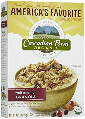 Cascadian Farms Fruit & Nut Granola ( 10 x 13.25 OZ) by Cascadian Farm