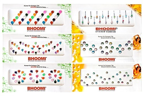 INDIAN TRADITIONAL 10 Pack Bollywood Head Bindi Tattoo Indian Art Rhinestone Stick on Reuseable