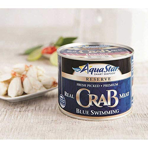 Aqua Star Pasteurized Blue Crab Jumbo Meat, 16 Ounce -- 12 per case.