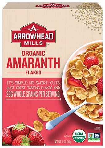 Arrowhead Mills Organic Cereal, Amaranth Flakes, 12 oz. Box (Pack of 12)