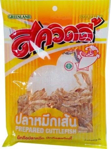 Squidy Brand, Cuttlefish String Snack, Prepared Cuttlefish 38g X 4 Packs