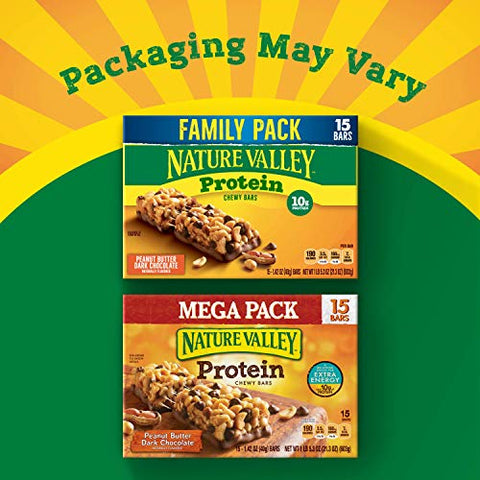 Nature Valley Granola Bars, Peanut Butter Dark Chocolate, Gluten Free, 21.3 oz