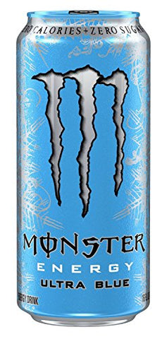 Monster Energy Drink, Ultra Blue, 16-Ounce Cans (Pack of 12)