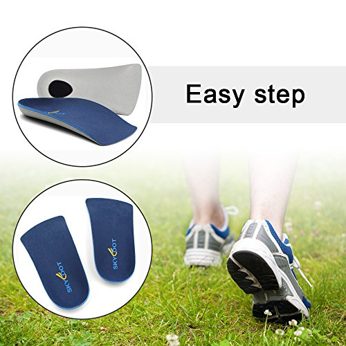 Skyfootâ??S 3/4 Orthotics Shoe Insoles   Arch Support Correct Over Pronation, Fallen Arches, Flat Fe