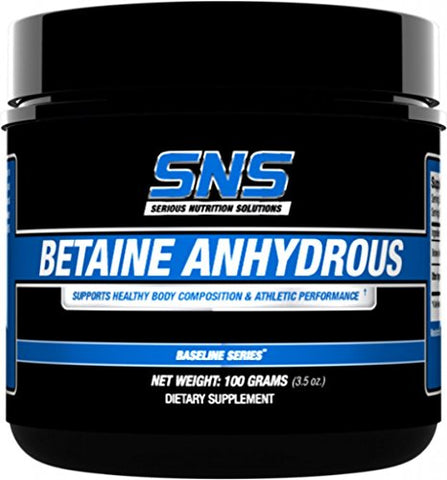 Serious Nutrition Solution Betaine Anhydrous Dietary Supplement, 100 Gram