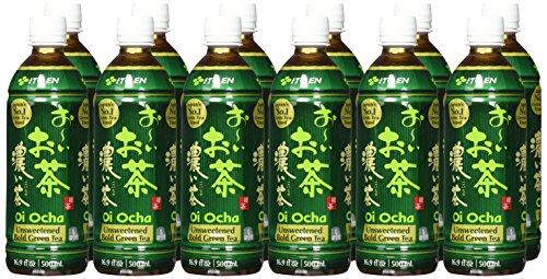 Ito En Oi Ocha Unsweetened Bold Green Tea, 16.9 Fluid Ounce (Pack of 12), Unsweetened, Zero Calories, Antioxidant Rich, Brewed with Whole Leaf Tea, Caffeinated, High in Vitamin C