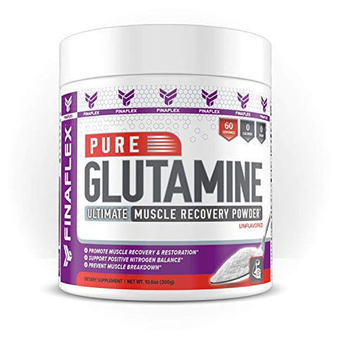 Pure GLUTAMINE, Ultimate Muscle Recovery Powder, Promote Recovery and Restoration, Support Positive Nitrogen Balance, Prevent Muscle Breakdown (300 Gram, UNFLAVORED)