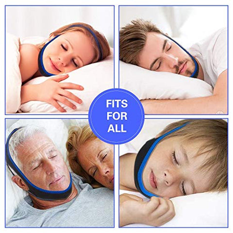 Anti Snoring Chin Strap, Raxurt Adjustable and Breathable Snore Stopper Chin Strap Stop Snoring Sleep Aid for Men Women, Straps Snoring Solution Anti Snoring Devices Effective Stop Snoring Chin Strap