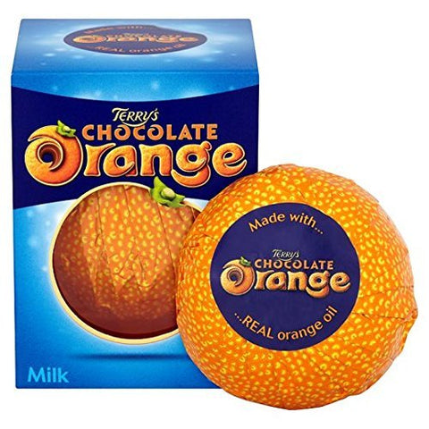 Original Classic Terry's Chocolate Orange Milk Chocolate Box Imported From The UK England The Very Best Of Terrys Orange Chocolate Candy British Chocolate Terrys Milk Chocolate Orange