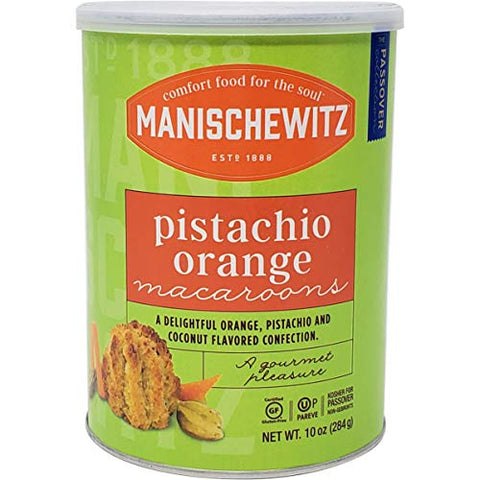 Manischewitz Pistachio Orange Macaroons Kosher For Passover 10 Oz. PK 3.