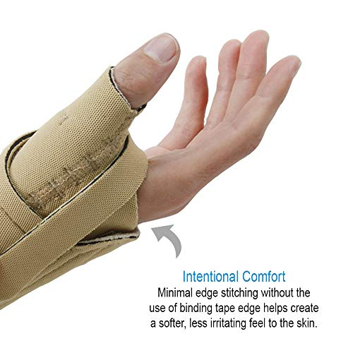 Comfort Cool Thumb Cmc Restriction Splint. Beige Patented Thumb Brace Provides Support/Compression.