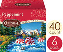 Image of Celestial Seasonings Herbal Tea, Peppermint, 40 Count (Pack of 6)
