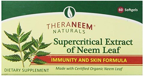 Theraneem Supercritical Neem Gel Capsules, 60 Count