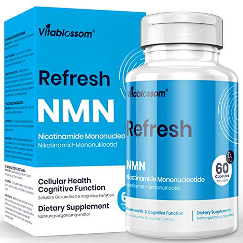 Vitablossom NMN 500mg Capsule Nicotinamide Mononucleotide Direct NAD Supplement, to Boost NAD Levels for Anti Aging