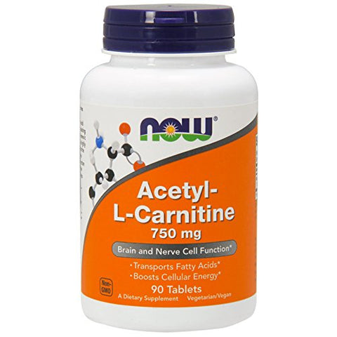 NOW Foods Acetyl-L-Carnitine 750 mg - 90 Tablets