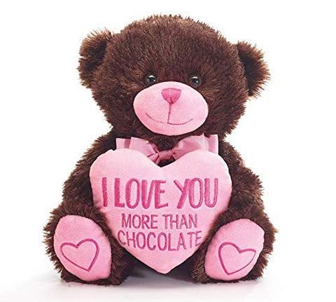 I Love You More Than Chocolate, Romantic Gift Basket - Men or Women Will Love the Plush Bear and Delicious Treats Bursting with Flavor