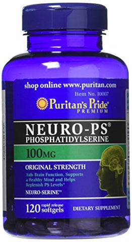 Puritans Pride Neuro-PS 100 mg Softgels, 120 Count