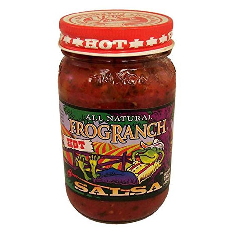 Frog Ranch Hot All Natural Salsa 16 oz. (Pack of 3)