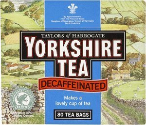 5 X Yorkshire Decaffeinated Tea, 80 Teabags