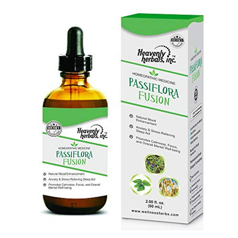 Passiflora Fusion Drops - Passionflower - Natural Mood Enhancement. Anxiety & Stress Relieving Sleep Aid. Promotes Calmness, Focus, and Overall Mental Well-Being. 2 Fl. Oz
