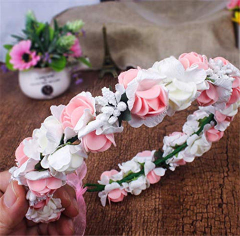 Forest & Rural Style Personality Fashion Queen Princess Bridal Flower Garland Wristband Wreath Headband Crown Hair Decor