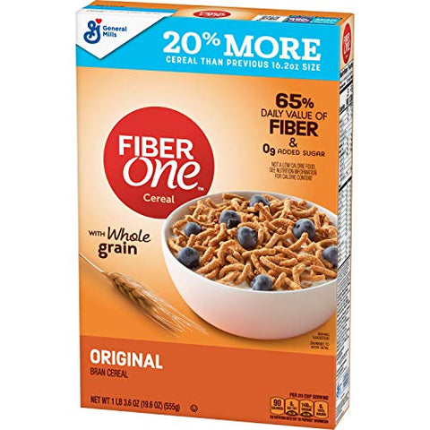 Fiber One Cereal Original Bran 19.6 oz (10016000157627)
