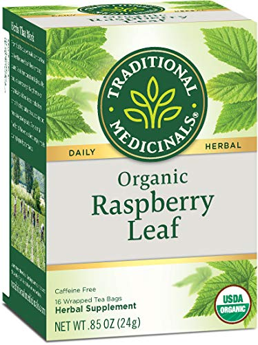 Traditional Medicinals Organic Raspberry Leaf Tea, 16 Tea Bags (Pack Of 6)