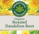 Image of Traditional Medicinals Organic Roasted Dandelion Root Herbal Leaf Tea, 16 Tea Bags (Pack of 6)
