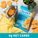Image of Quest Nutrition Cheddar & Sour Cream Protein Chips, Low Carb, Gluten Free, Potato Free, Baked, Pack of 8