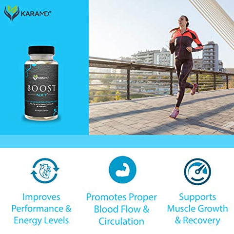 KaraMD Boost NXT (30 Servings) | Doctor Formulated Nitric Oxide Booster Supplement with Arginine, Citrulline and Vital Amino Acids for Energy, Muscle Growth, Healthy Heart, and Vascularity