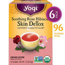 Image of Yogi Tea   Soothing Rose Hibiscus Skin De Tox (6 Pack)   Supports A Healthy Glow   96 Tea Bags