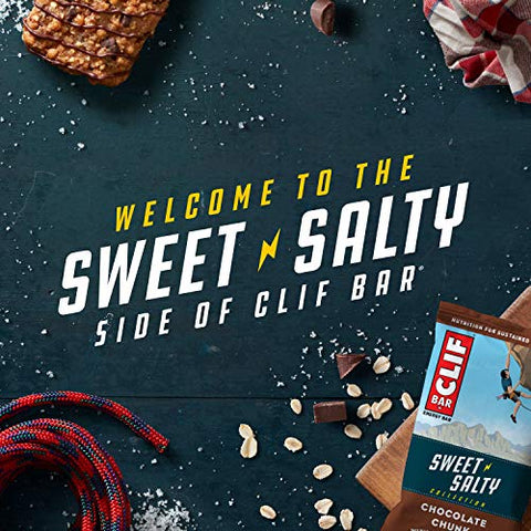 CLIF BARS - Energy Bars - Sweet & Salty Variety Pack - Includes Chocolate Peanut Butter with Sea Salt (2.4 Oz Protein Bars, 16 Count) (Packaging & Assortment May Vary)