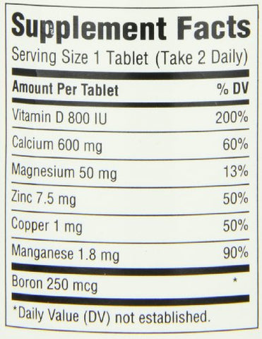 Caltrate 600+D3 Plus Minerals (120 Count) Calcium & Vitamin D3 Supplement Tablet, 600 mg