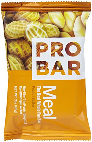 Probar Organic Peanut Butter Meal Bar, 3 oz, 12 ct