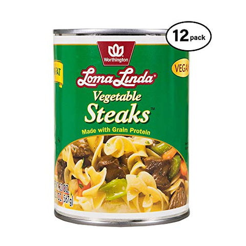 Loma Linda - Plant-Based - Vegetable Steaks (20 oz.) (Pack of 12) - Kosher