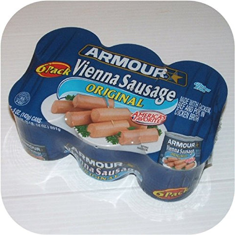 ARMOUR VIENNA SAUSAGE ORIGINAL 6 CT