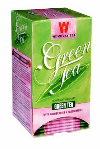Wissotzky Tea Green Tea with Wildberries & Passionfruit - 20 Tea Bags by Wissotzky Tea